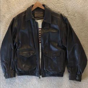 Sonoma Men's Leather Bomber Coat